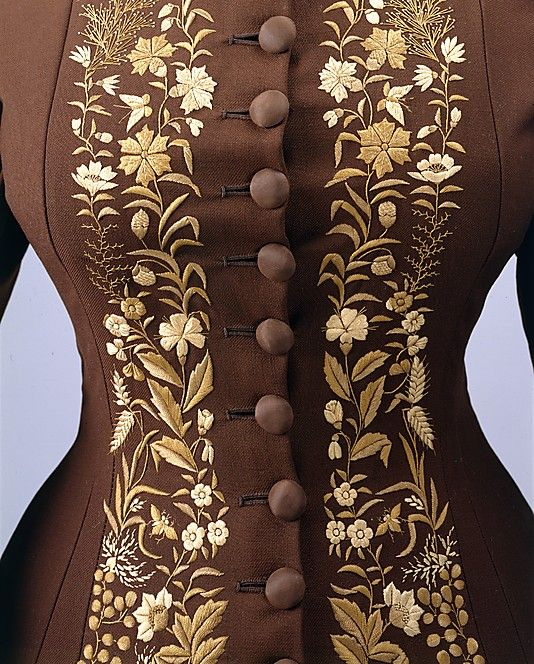 Dress  Date: 1876–78 Culture: American Medium: wool, silk  Accession Number: C.I.39.68  Metropolitan Museum of Art