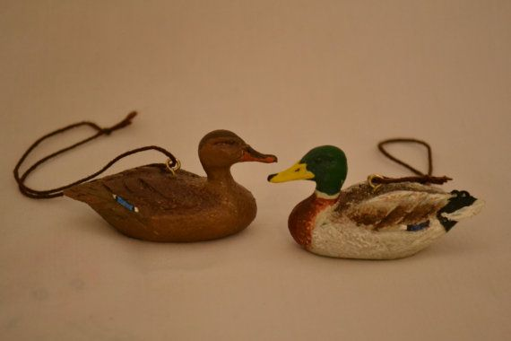 Christmas Tree Ornament Duck Decoy American Made By