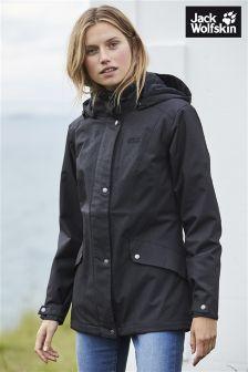 Jack Wolfskin Black Park Avenue Insulated Waterproof Jacket