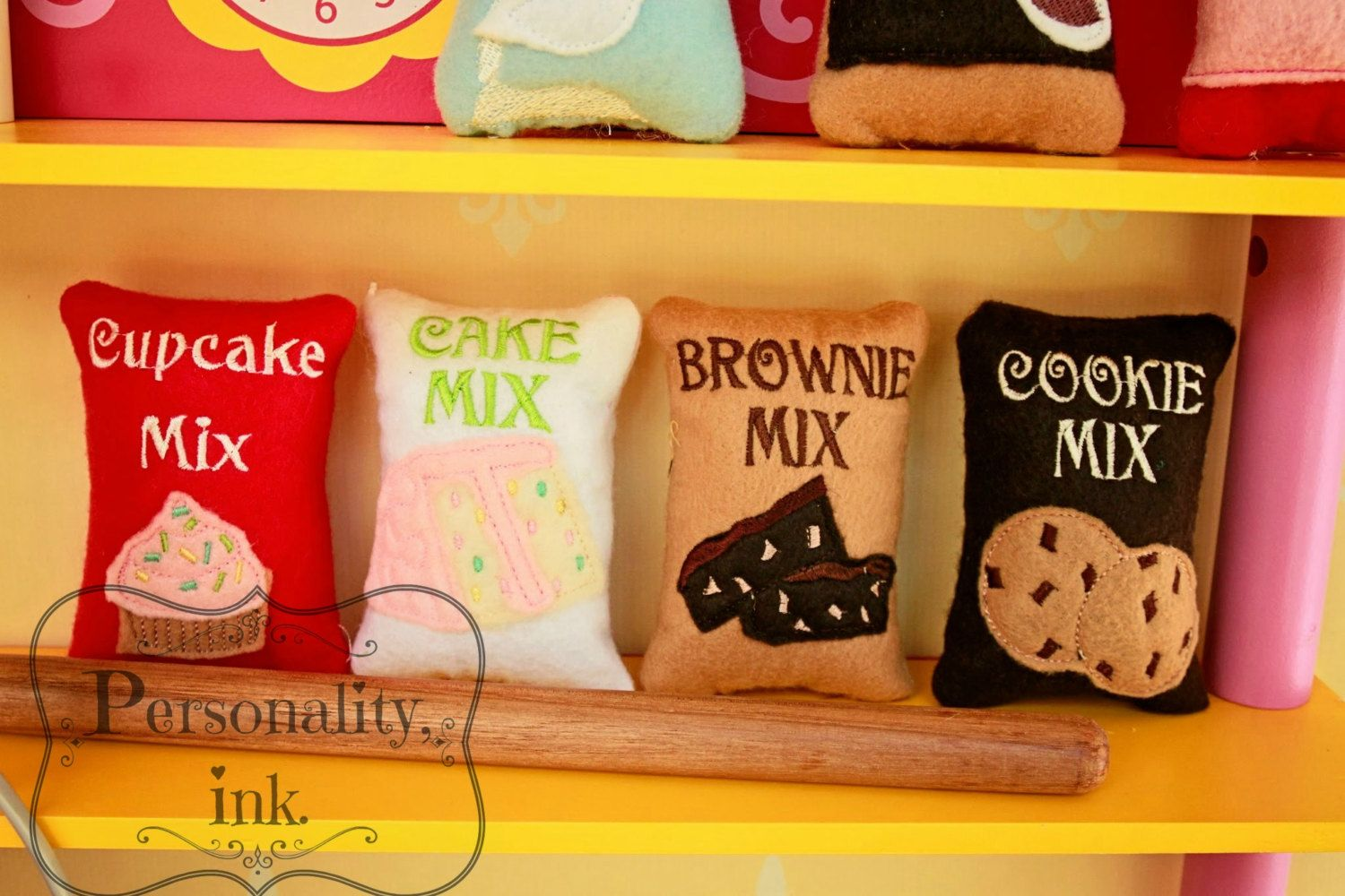 Baking Set Felt Food Cupcake Cake Brownie by personalityink, $13.00