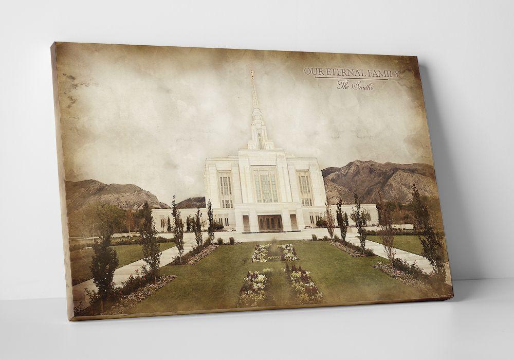 Ogden Temple - Vintage Canvas Wrap in Framed Art | LDSBookstore.com ...