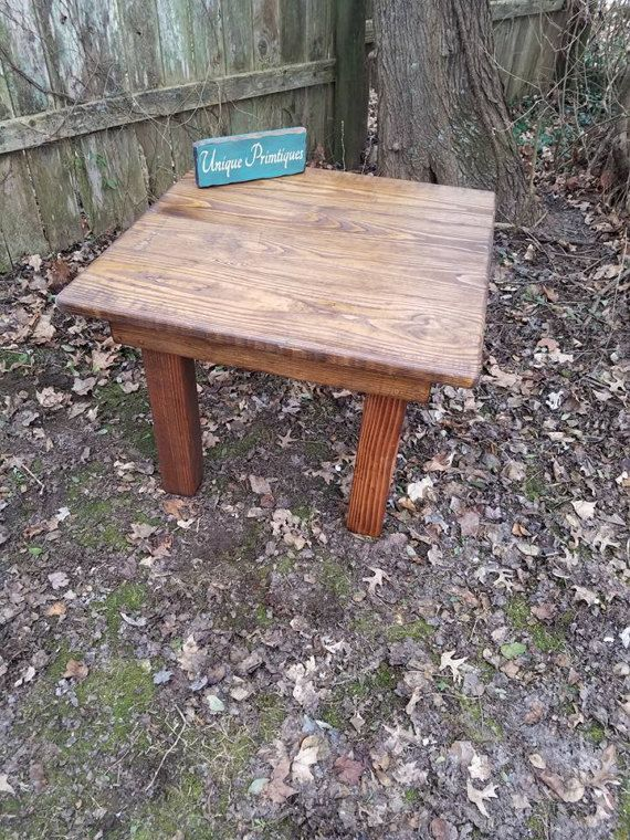 rustic small wood coffee table or large end kids table english rh pinterest com
