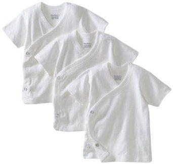 75bec5343 Gerber Unisex-Baby Newborn 3 Pack Short Sleeve Side Snap Shirt, White, 0-3  Months Gerber. $8.95