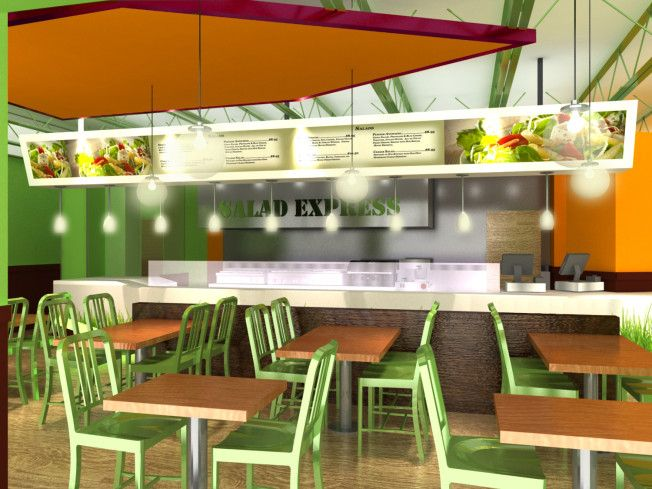 Modern Salad Bar Cafe Dessert Shop Design Salad Bar Bar Salad
