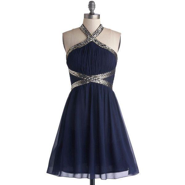 ModCloth Mid-length Halter A-line Fond of Formal Dress ($100 ...