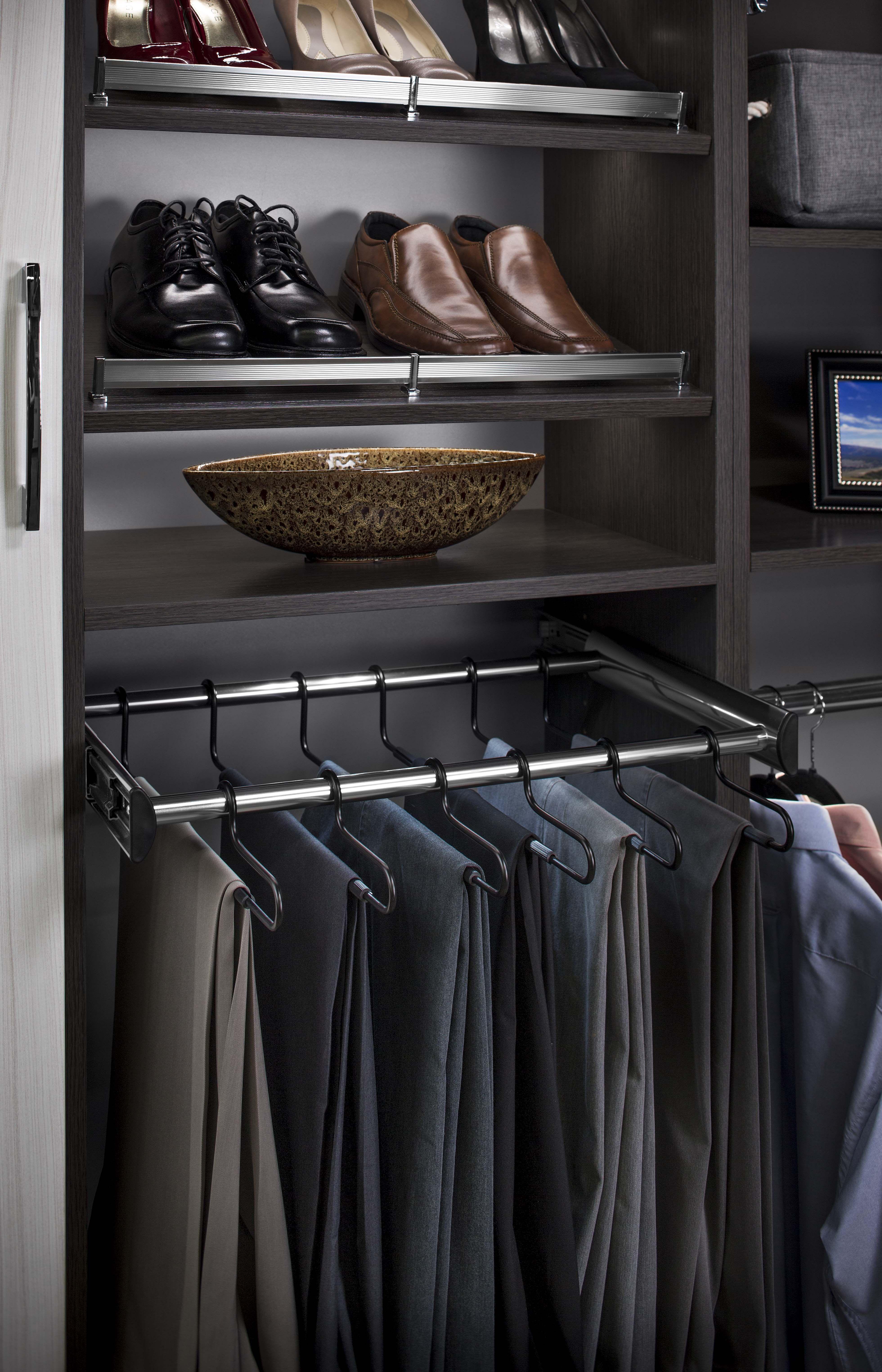 rack closet retractable pants dp inches amazon rod valet home com kitchen extendable ainger