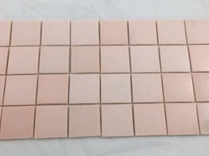 Mosaïque carrelage , rose boudoir 4 cm par plaque - Achat mosaïque - mosaique rose salle de bain