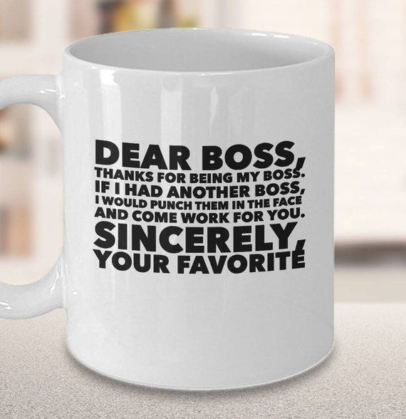Funny Boss Mug | Gift for Boss | Coffee Cup | National Boss Day | Christmas #bossesdaygiftideasoffices