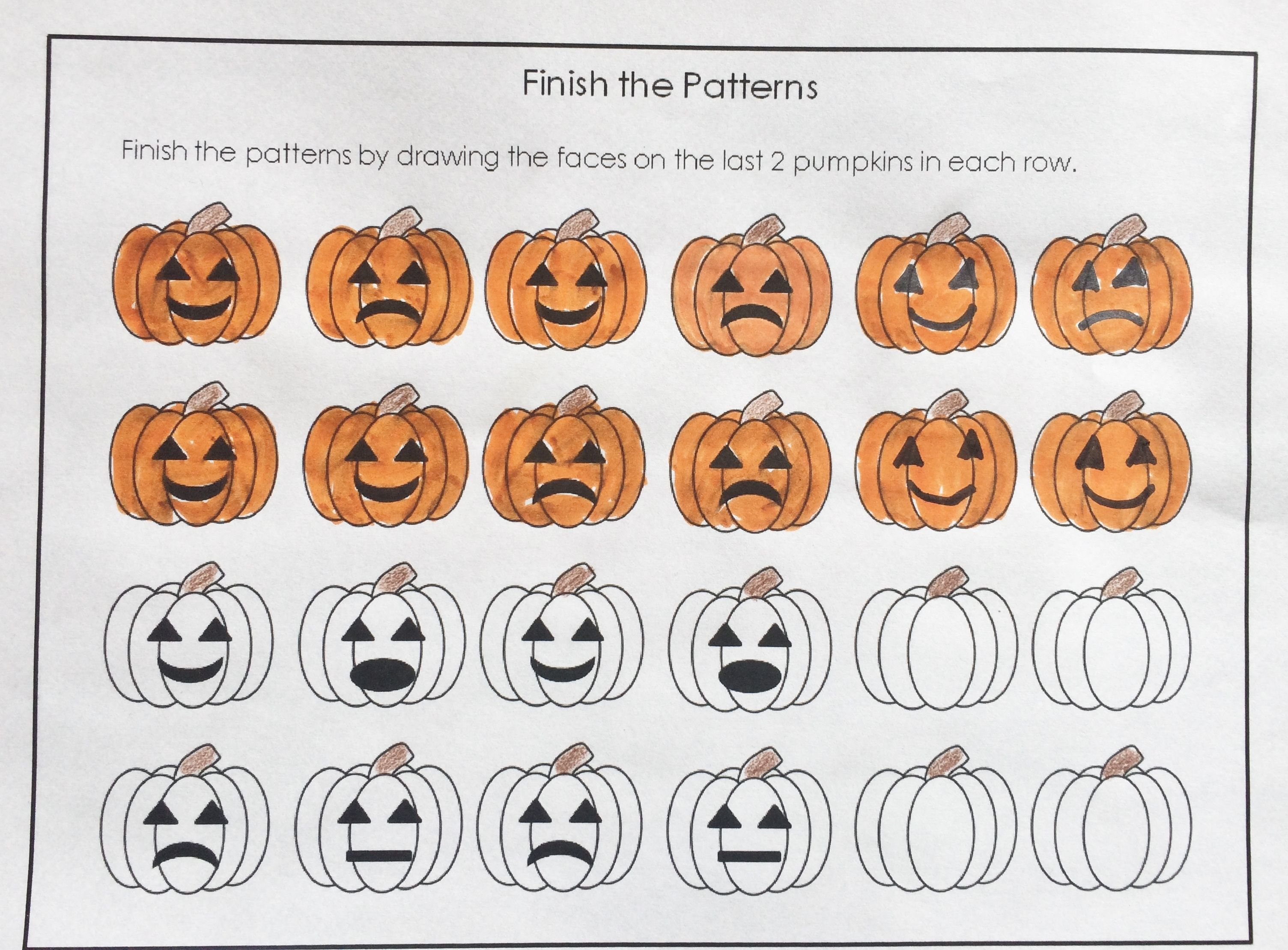 Free Pumpkin Patterning Sheets