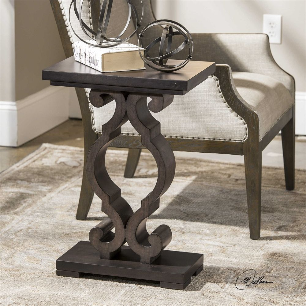 Uttermost Parina Ebony Accent Table Table Furniture Living