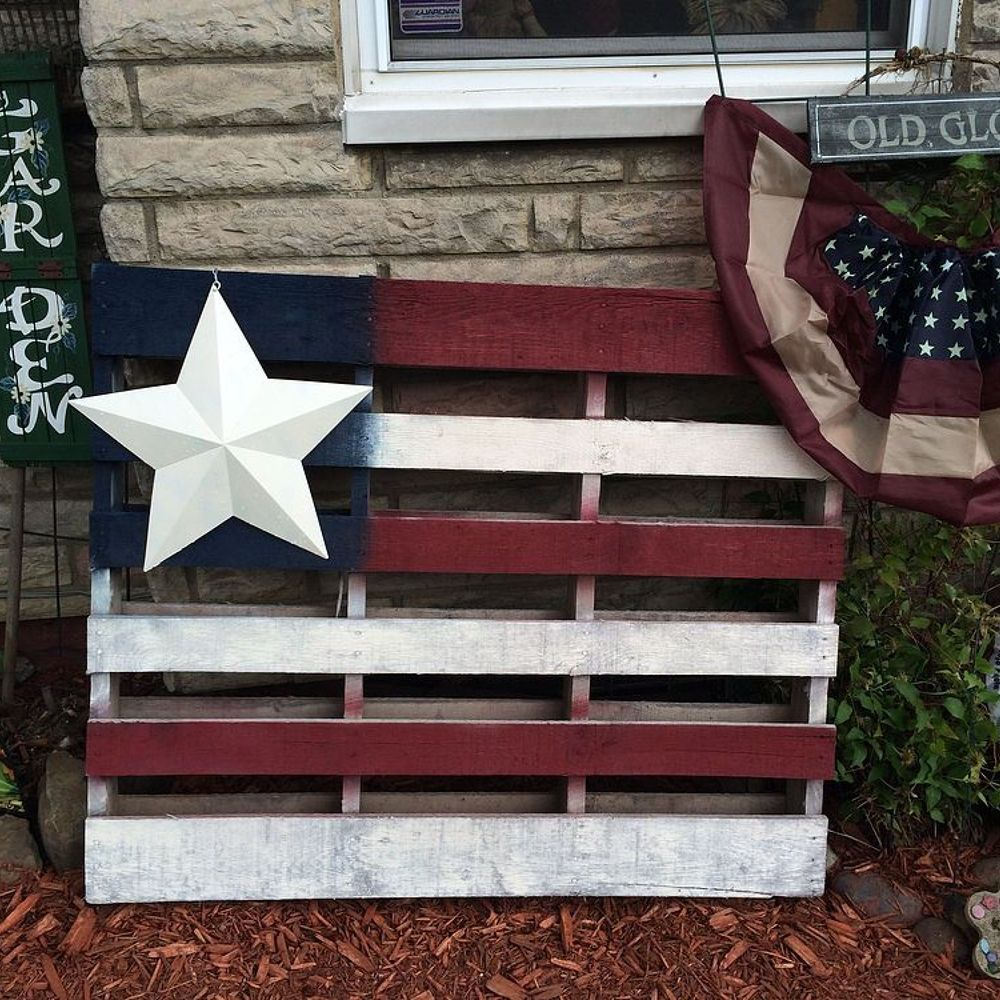 American Flag Pallet Art | American flag pallet, Pallet ...