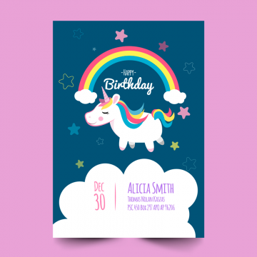 2019 的 Card With Unicorn Background Vintage Png And