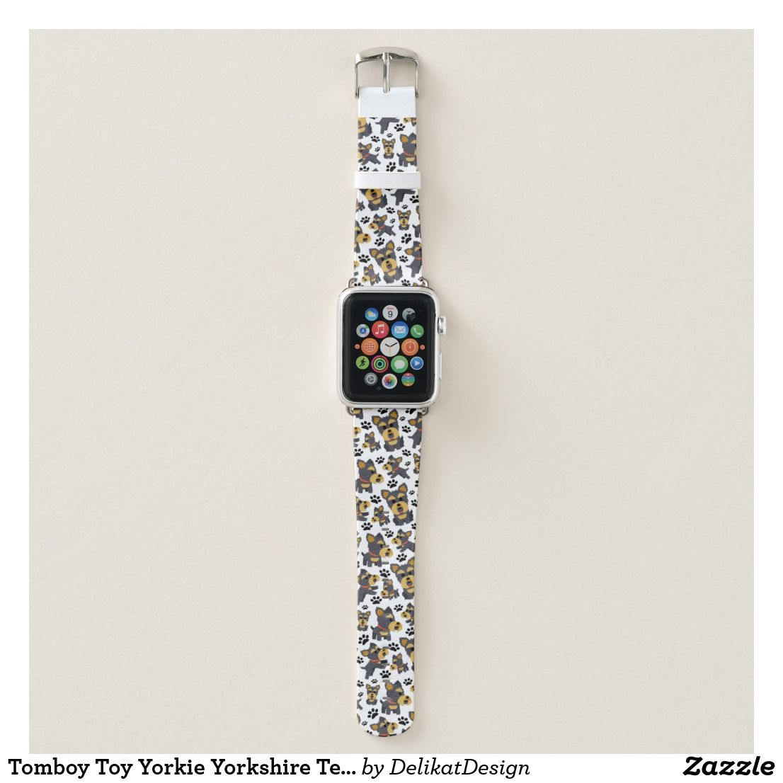 Tomboy Toy Yorkie Yorkshire Terrier Pet Puppy Dog Apple Watch Band