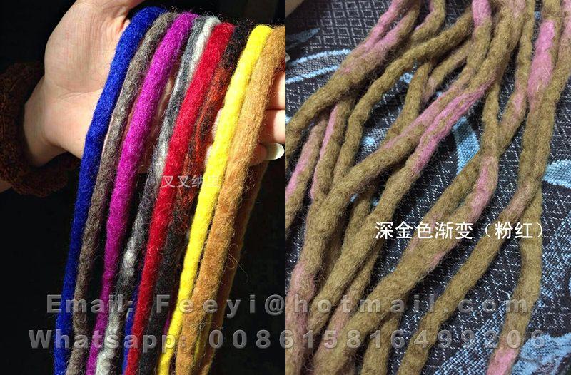 Oem Handmade Wool Hair Dreadlock Pure Soft Sheep Wool Felted