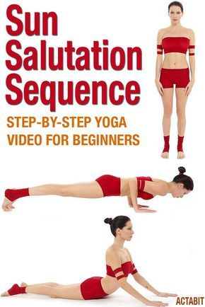yoga sun salutation sequence for beginners video of poses