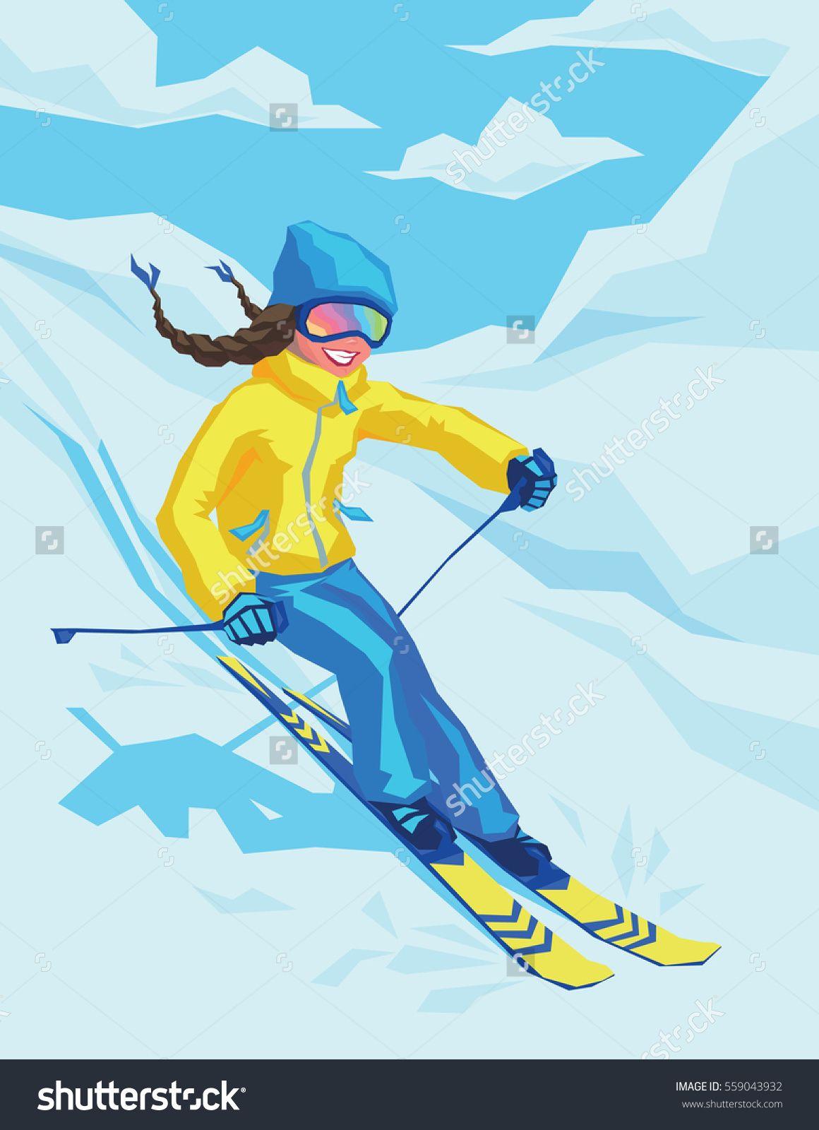 Going Downhill Fast Skiing WOMENS T-SHIRT Winter Ski Sn Funny birthday gift
