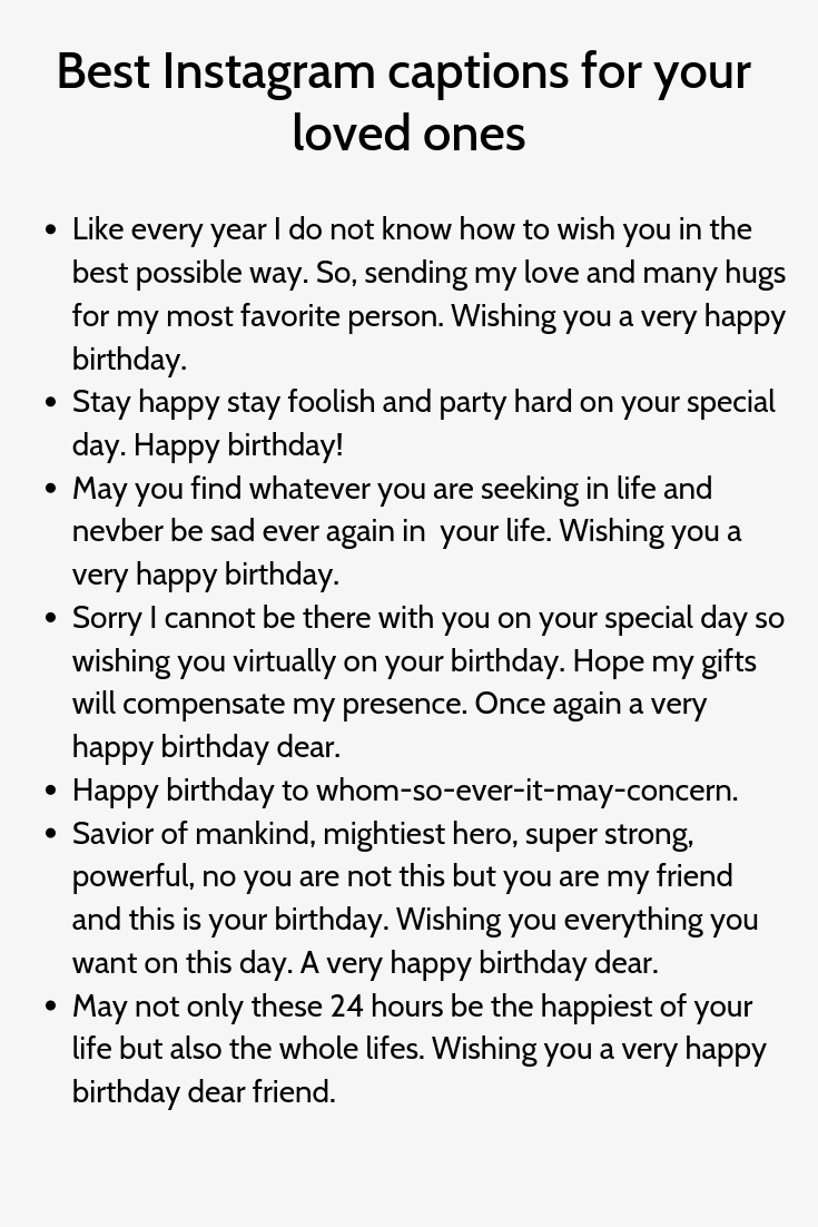 Best Instagram Captions For Your Loved Ones Birthday Captions Good Instagram Captions Instagram Captions