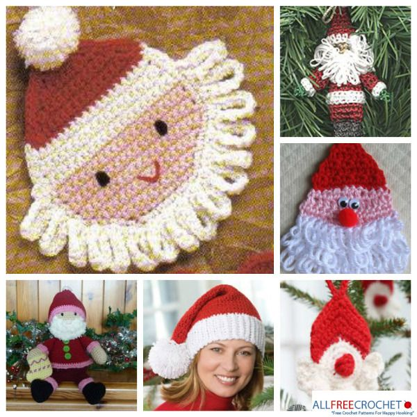 12 Free Santa Patterns to Bring on the Holiday Cheer