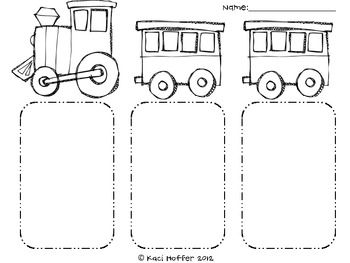 Train Beginning Middle and End Response Sheet (With images