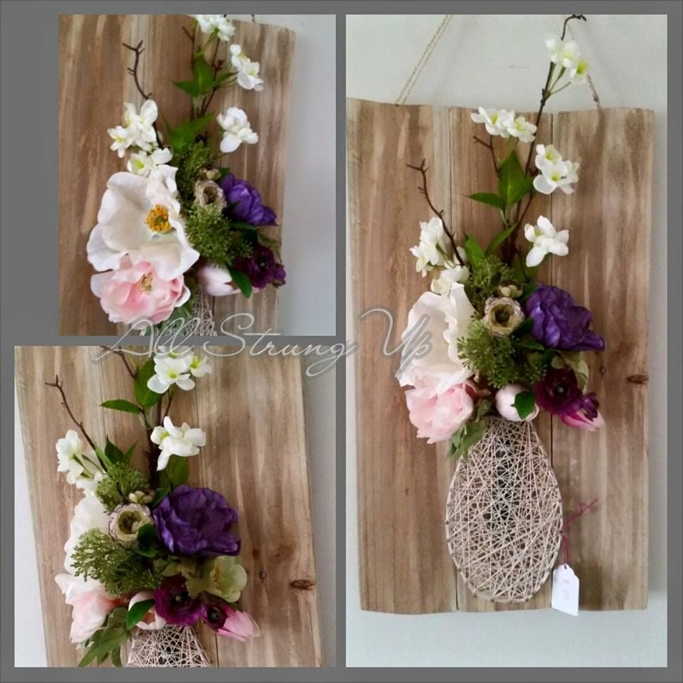 flower vase string art check us out on facebook at all
