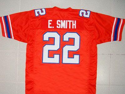 d6a9c43169f #22 Emmitt Smith FLORIDA Gators NCAA RB 1986-89 Orange Throwback Jersey.