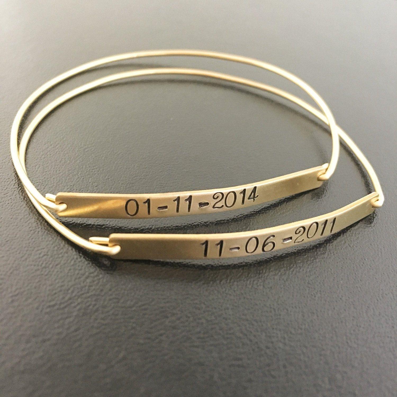 Keepsake Jewelry Wedding Date Bracelet Wedding Date Gift Wedding