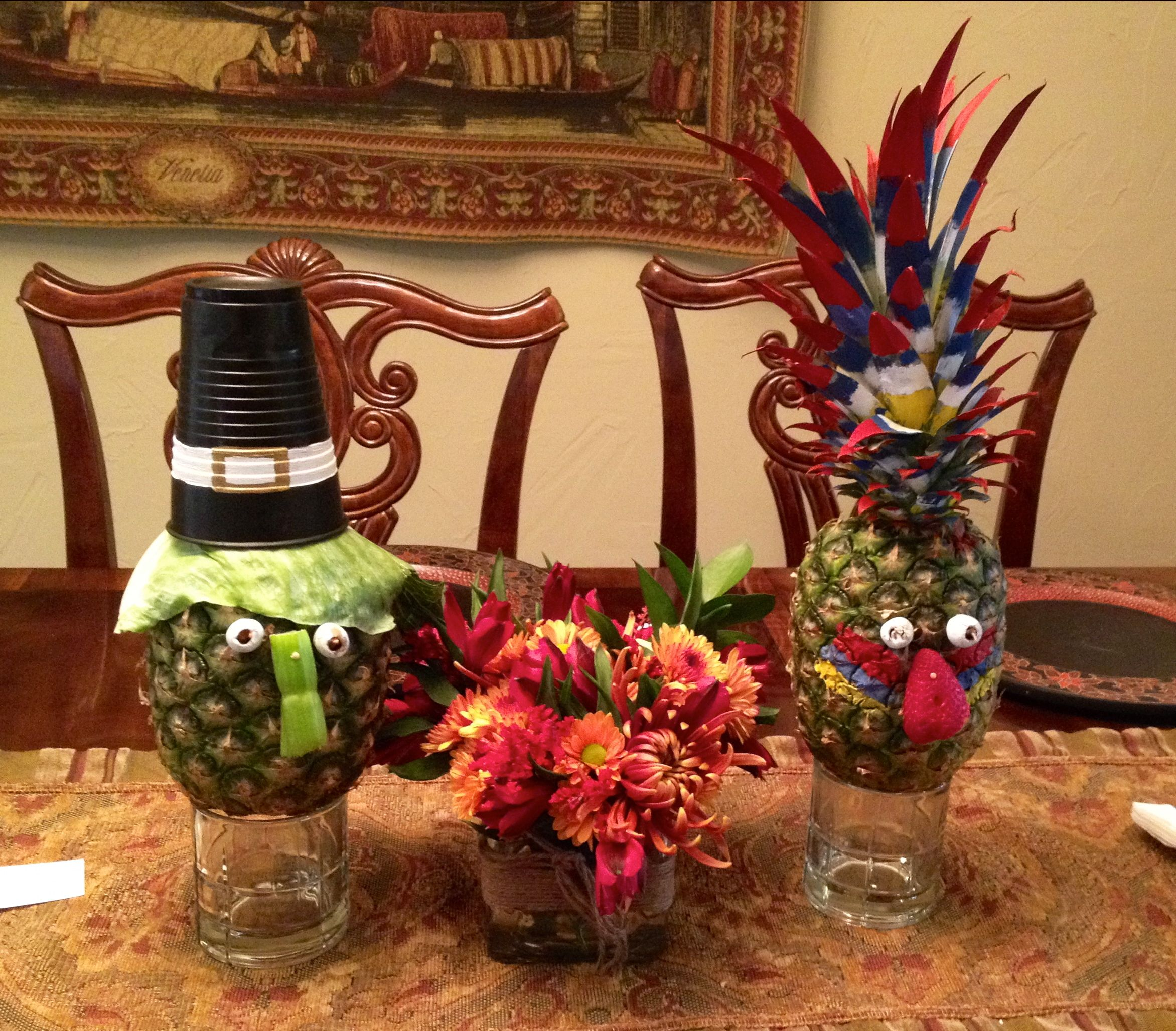 Pilgrim And Native American Table Decorations Holiday Love