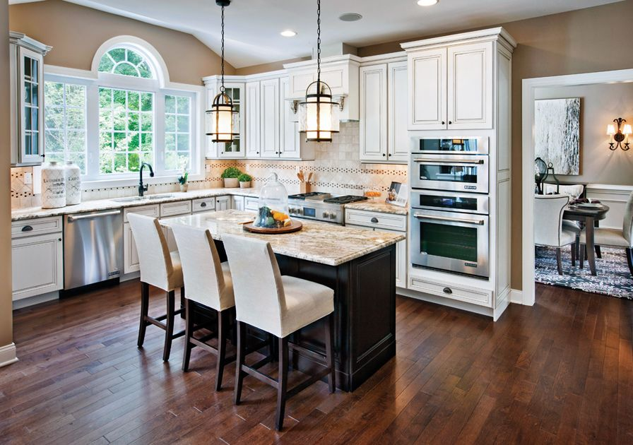 Toll Brothers Palladian Kitchen With Center Island