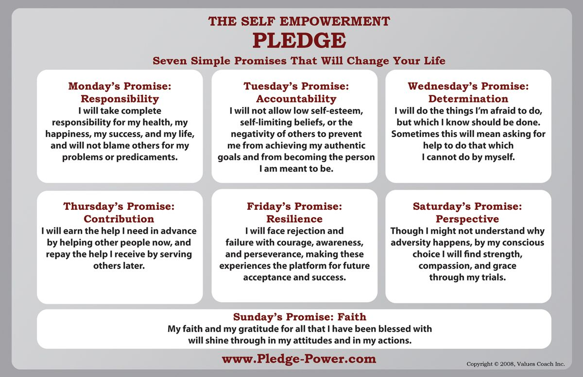 The Self Empowerment Pledge These Seven Simple Promises