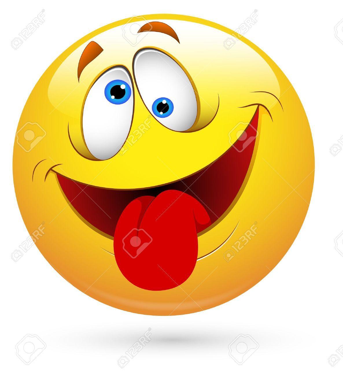 Smiley Illustration Vecteur Langue Out Emoji Drole Emoticone Gratuit Smileys