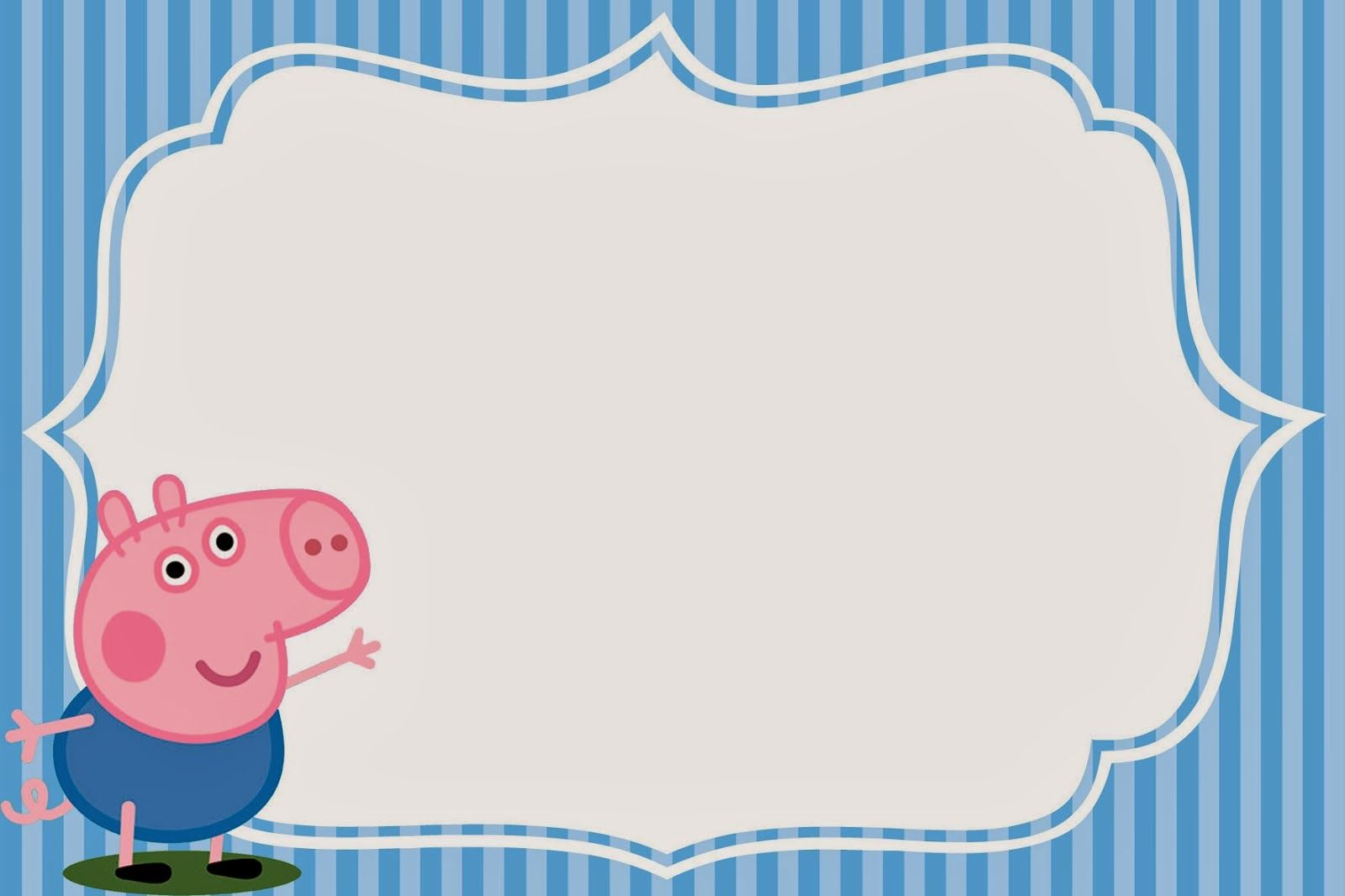 George Pig Imprimibles Invitaciones Y Tarjetas Gratis