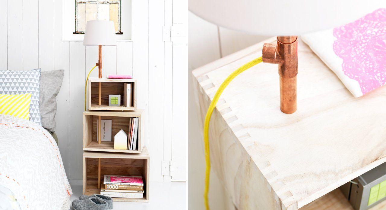 Fabriquer Une Penderie Design En Bois Et Alu Tischlampen Stehlampe Regal