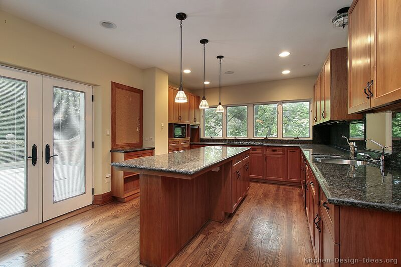 Traditional Medium Woodcherry Kitchen Cabinets #62 Kitchen Amazing Cherry Kitchen Design Decorating Design