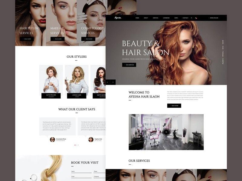 Latest Website Concept Hair Salon Website Design Unisex Hair Salon Hair Salon