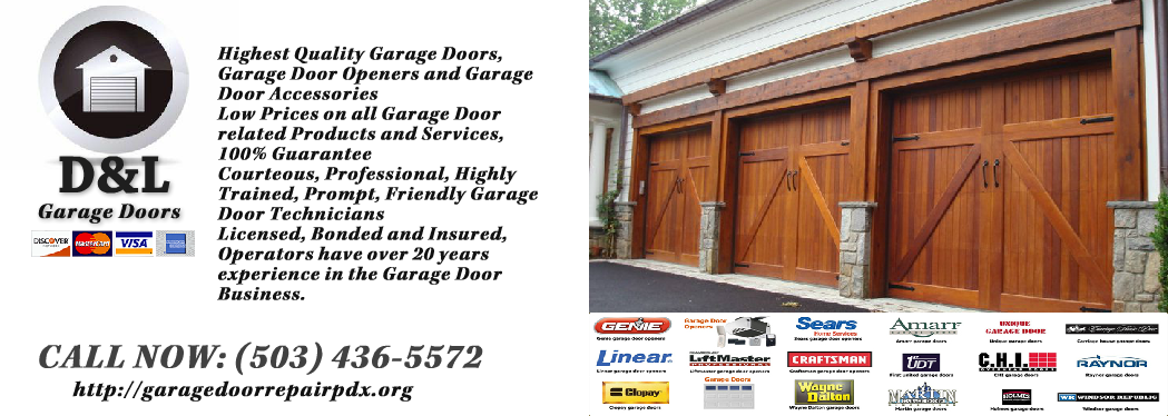 D L Garage Doors Your Local Garage Door Company In Portland Or