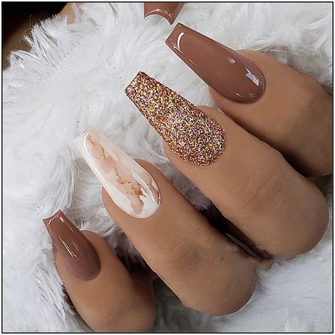 155 The Most Wonderful And Convenient Coffin Nail Designs 2019 Page 11 Fall Acrylic Nails Marble Acrylic Nails Coffin Nails Long
