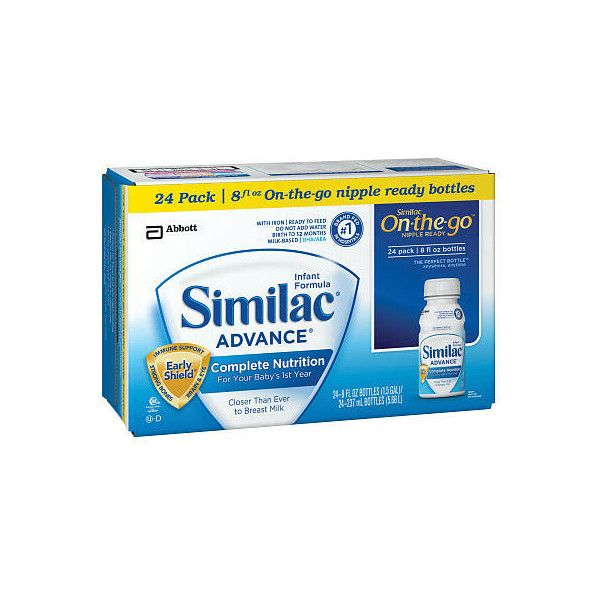 Similac Advance Formula Ready To Feed 24 Pack 8 Ounce Abbott Nutrition Similac Baby Formula Kids Store
