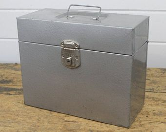 Industrial Porta File Silver Metal File Box Storage ...