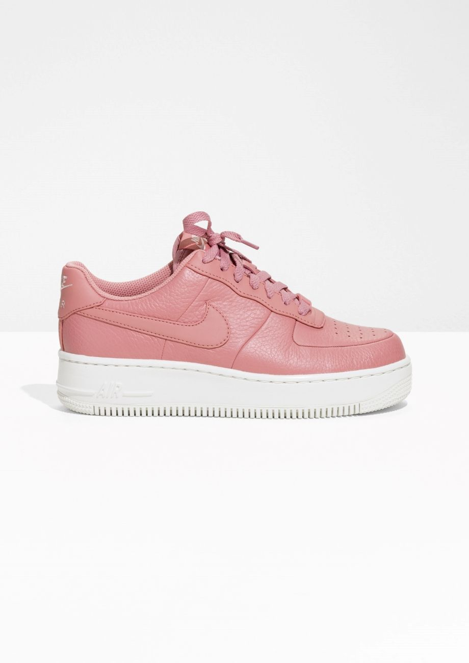 super popular 4f1b9 e3f33 Other Stories image 1 of Nike Air Force 1 Upstep in Pink
