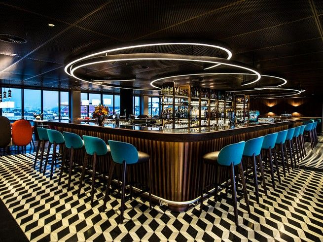 Bar Design:George Baru0026Grill Project With Retro Lighting By DelightFULL