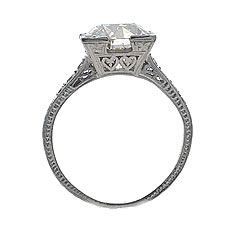 Love the two little hearts on the side of this 1920's Art Deco ring