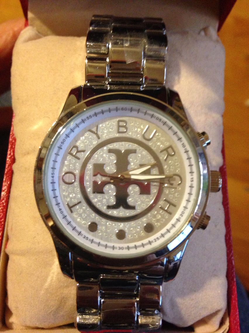 Tory burch silver watch $70