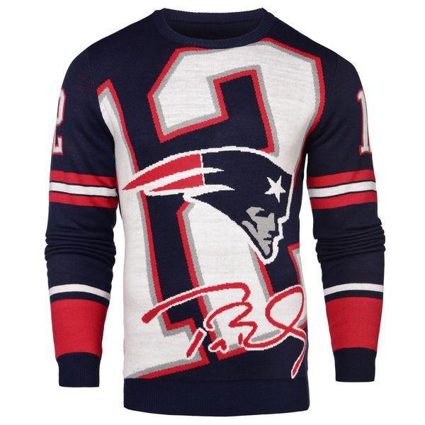 new concept 0607b 66ec8 Men's New England Patriots Tom Brady Klew Navy Loud Player ...