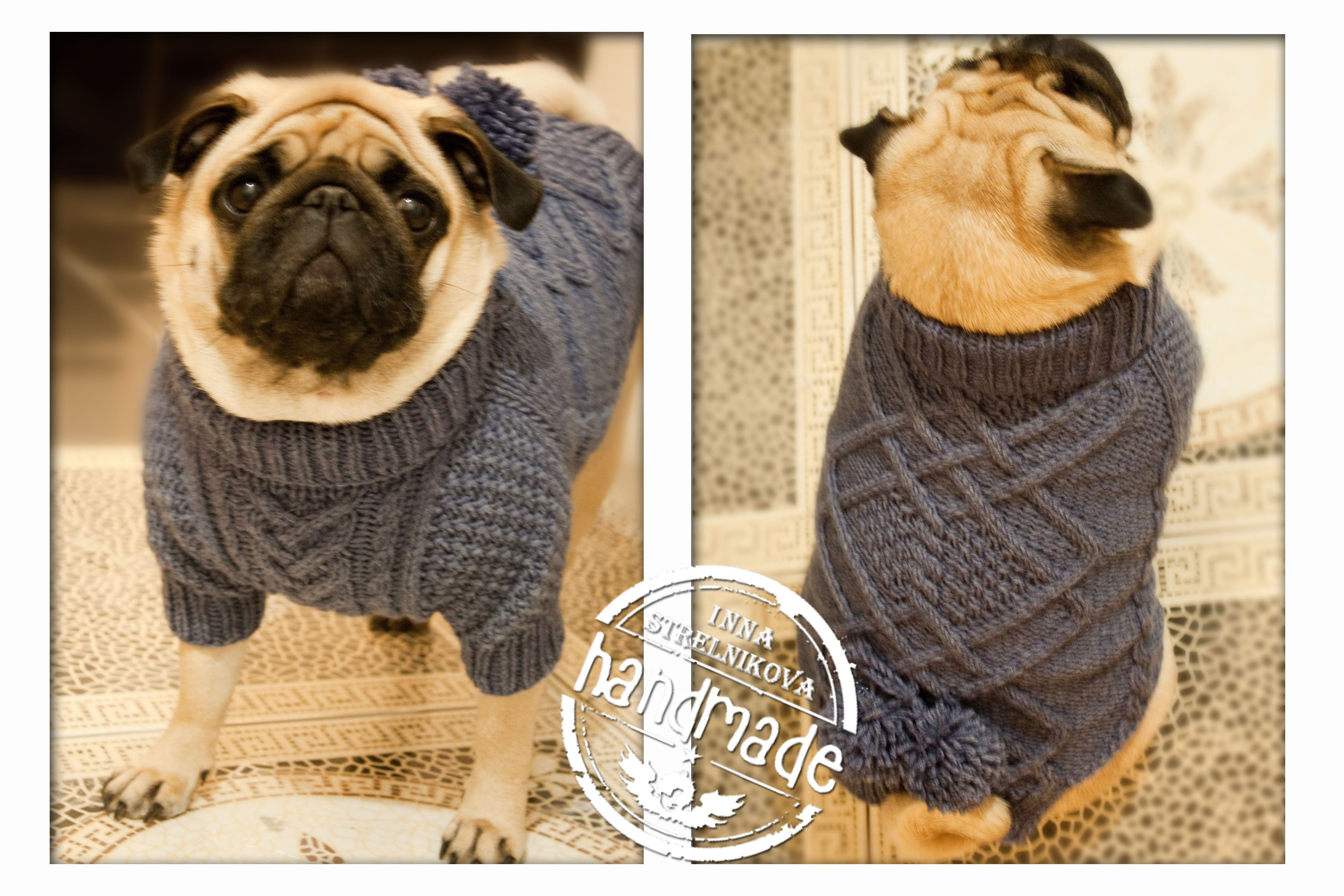 Вязанные свитера для собачек