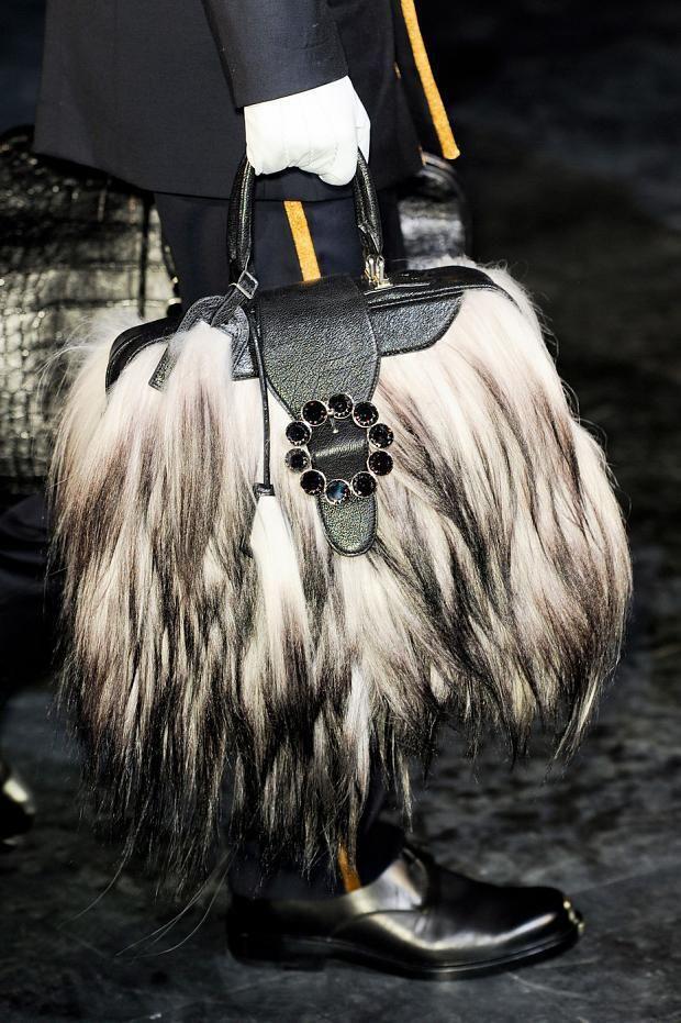 Louis Vuitton fur handbag