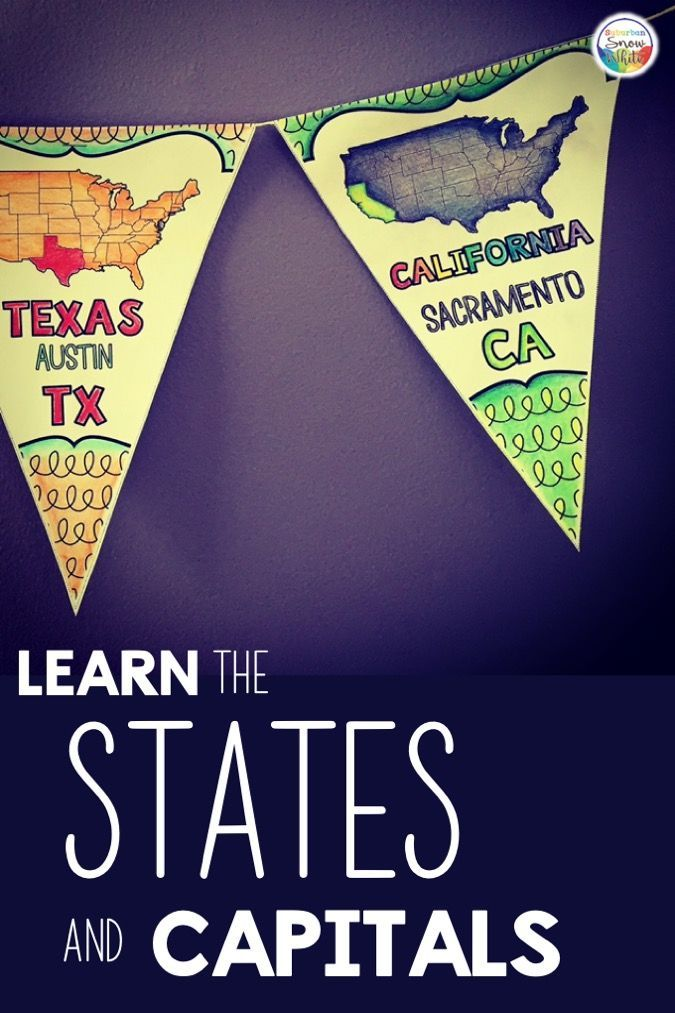 Learn the states and capitals with a grin! | States and ...