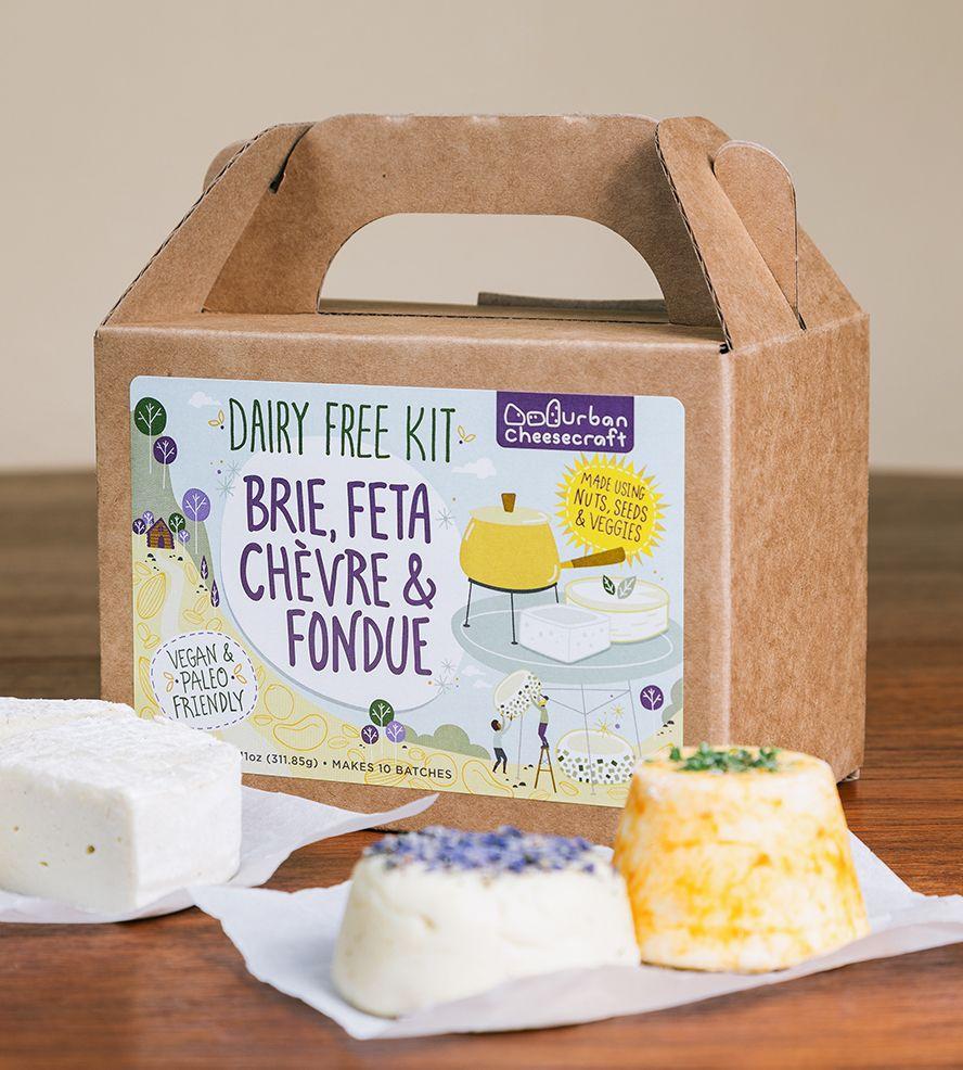 Diy Dairy Free Brie Chevre Feta And Fondue Cheese Kit Dairy Free Cheesemaking Paleo Dairy