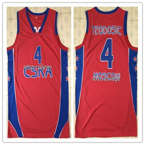 2018 Cheap  4 Milos Teodosic Cska Retro Basketball Jersey Embroidery  Stitched Custom Any Number And 252a8f807