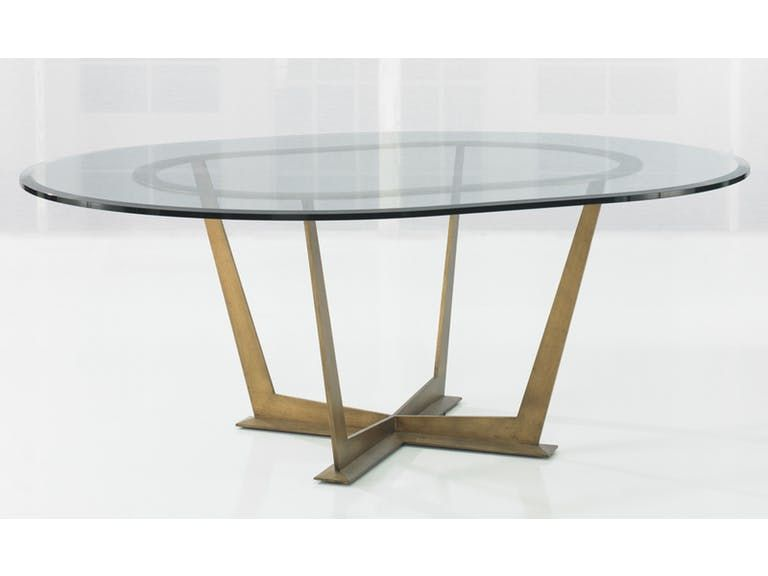 Kravet Steel Base Oval Table Wd13 78ovo Gl D2o Ep Dining