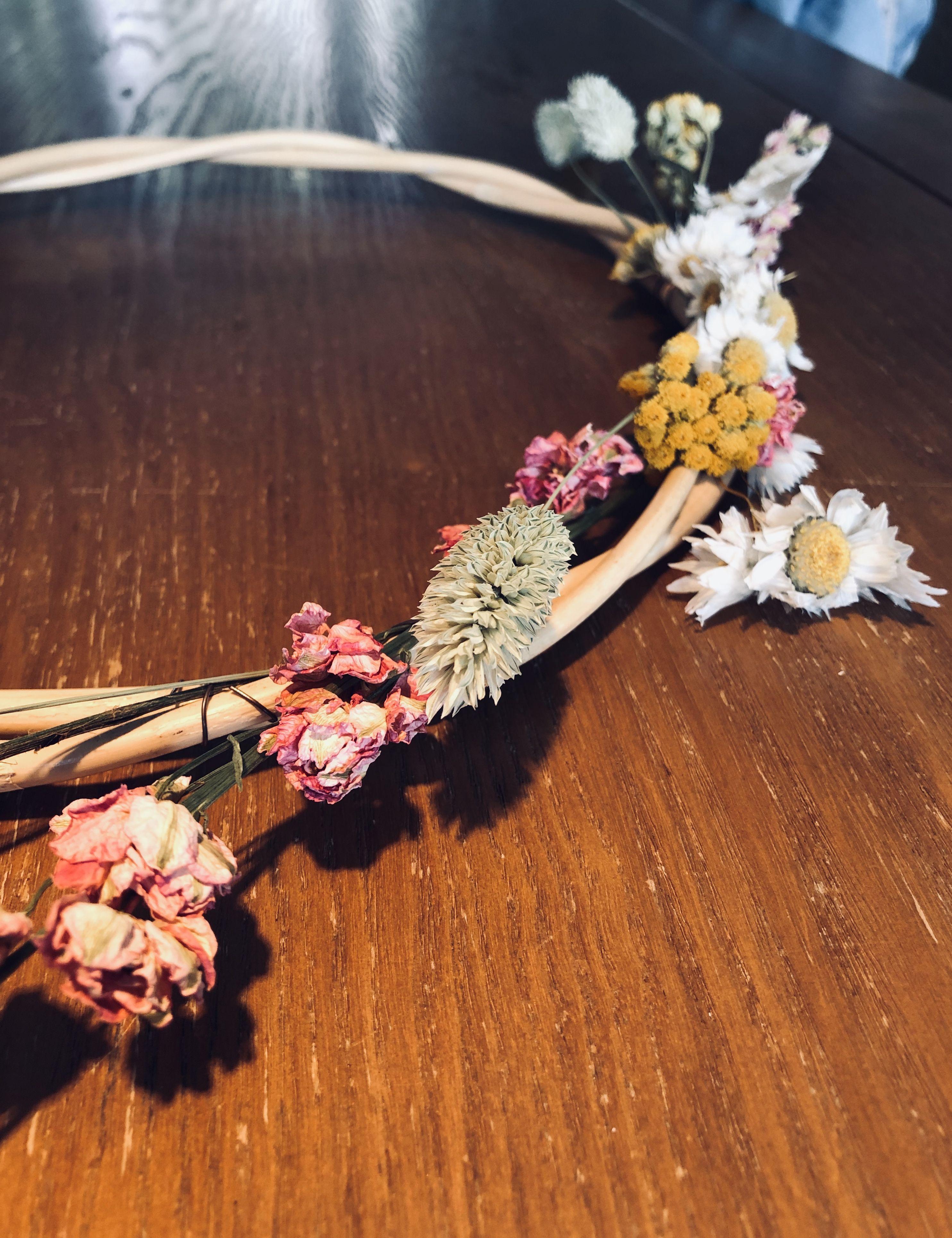 #bohemianstyle #wreath #flowers #driedflowers